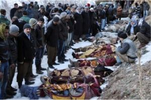Victims of the Roboski/Uludere massacre, 28 December 011.