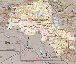 Geography of an independent Kurdistan.
