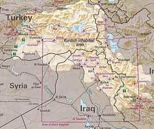 Geography of an independent Kurdistan.