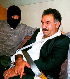 Abdullah Öcalan after being capture in 1999.
