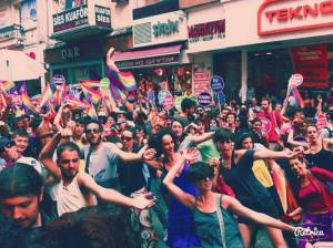 Picture my secret gay friend made during gay pride in Istanbul last Sunday.