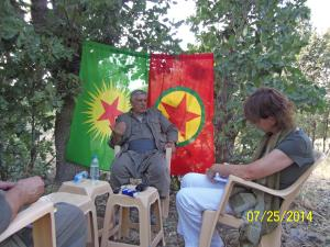 While interviewing Cemil Bayik, co-leader (with Bese Hozat) of the executive council of the umbrella organization KCK - or in other words: PKK's second man after imprisoned Abdullah Öcalan.