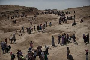 Ezidi exodus, this week in the north of Iraq.