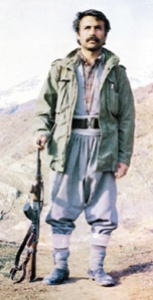 Mahsum Korkmaz, killed by the state in 1986. This picture is often seen at events of the Kurdish movement.