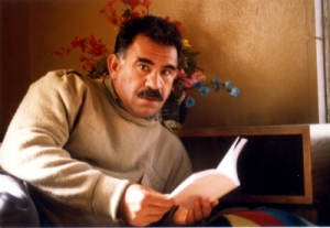 The one holding books (and writing them) since his capture in 1999: PKK leader Abdullah Öcalan. (pic not by me)
